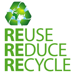 Reduce, Re-Use and Recycle.